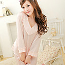 Women's Elegant Sweet V Neck Long Sleeve Lounge Wear