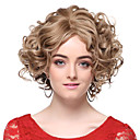 Capless 100% Human Hair Blonde Short Wavy Hair Wigs