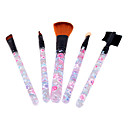 5PCS Flower Pattern Brush Set Transparent