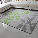 6.5' Leaves Pattern Acrylic Bonded Rug
