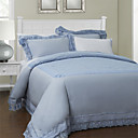 3PCS 250TC Lace Jacquard Cotton Duvet Cover Set