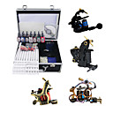 4 Guns Tattoo Kit with Mini Power and 7 Colors Ink + Case