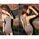 Women's Crochet Back Backless Bodycon Dress