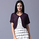 Short Sleeve Tulle Evening/Casual Wrap/Jacket (More Colors)