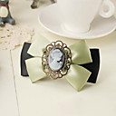Women's Vintage Handmade Portrait Bow Hair Clip
