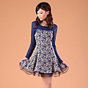 ZHI YUAN Mesh Lace Princess Two Pieces Like Dress(More Colors)