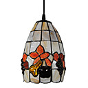 40W Artistic Tiffany Pendant Light with Stained Glass Shade in Fruit Design