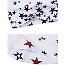 Mens Beach Casual White-black Cotton Star Pattern Trunks