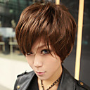 Fashion Zipper Brown 45cm Punk Lolita Wig