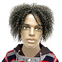 Capless High Quality Synthetic Short Curly Black Fluffy Children's Wigs