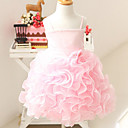 Sweety Sleeveless Satin/Tulle Wedding/Evening Flower Girl Dress