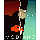 Printed Art Abstract Modiano Cig by Vintage Apple Collection