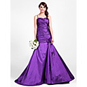 Trumpet/Mermaid Sweetheart Sweep/Brush Train Taffeta Bridesmaid Dress