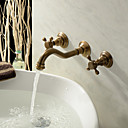 Antique Inspired Bathroom Sink Faucet (Polished Brass Finish)
