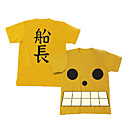 Cosplay Costume Inspired by One Piece Film Z Luffe Yellow T-shirt