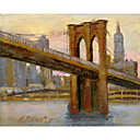 Impreso Arte Paisaje Brooklyn Bridge # 4 por Hall Groat II