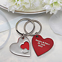 Personalized Key Ring   Layered Hearts (Set of 4)