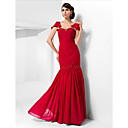 Trumpet/Mermaid Sweetheart Floor-length Chiffon Evening Dress