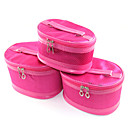 3PCS Cosmetic Makeup Pouch Portable Case Bag Set with Mirrors Rose Mini Spot