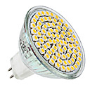 MR16 3.5W 80x3528SMD 300LM 2800-3300K Warm White Light LED Spot Bulb (12V)