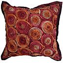 3D Floral Design Polyester Decorative Pillow Cover