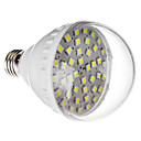 E27 7W 42x5050SMD 470-520LM 6000-6500K Cool White Light LED-lamp (220V)