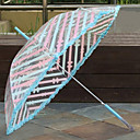 Sweet Bow Light Blue Umbrella With Nylon And Chrome Finished Stand (closed length:90CM)