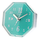 "3.3"" Octagon Analog Desktop Alarm Clock (Random Color, 1xAA)"