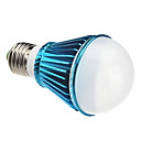 E27 7W 630LM 6000-6500K Natural White Light Blue Shell LED Ball lamp (85-265V)