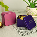 Personalized cuboide Favor Tin - set di 12 (piu colori)