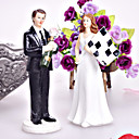 Finish Line Couple Figurine Wedding Cake Topper