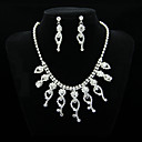 Elegant Rhinestones Alloy Wedding Bridal Jewelry Set,Including Necklace And Earrings