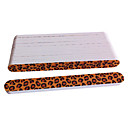 10PCS Emery Nail Files Straight Leopard