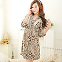 Sexy Stylish Leopard print Comfortable Chemises & Gowns