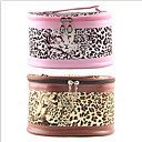 1PCS Cosmetic Makeup Pouch Portable Case Bag with Mirrors Leopard Print(Assorted Colors)