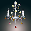 120W Vintage Chandelier With 3 Lights and in Candle Feature Shades E14/E12