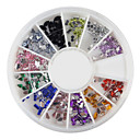 240PCS Nail Art Colorful Mixed Shapes Acrylic Rhinestone