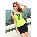 Women's Two Piece Strap Bandage Peplum Top With Bodycon Skirt
