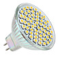 MR16 3W 60x3528 250LM 2800-3300K Warm White Light Bulb LED Spot (12V)