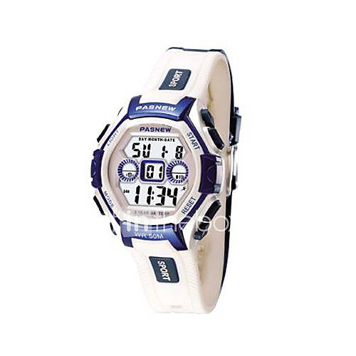 Polyurethane Sports Watch. Pasnew Sports Watch With Blue