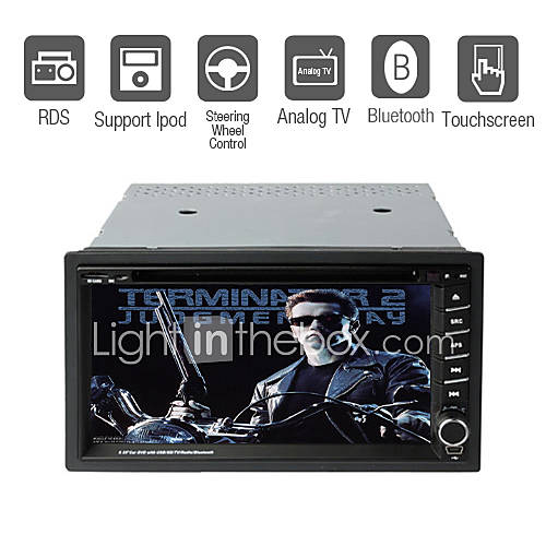 6,95 tuuman 2DIN auto DVD soitin TV rds bluetooth